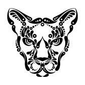 Puma tattoo, symbol decoration illustration stock photography