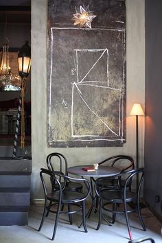 Velvet cafe- chalkboard wall art