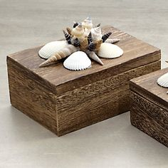 An idea for what to do with seashells you've collected... and maybe a few more could be kept inside, or pics of the beach?
