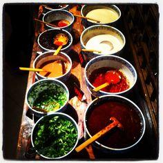 Hot pot restaurant sauces