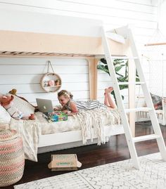 """Oeuf (@oeufnyc) on Instagram: """"Our Perch Bunk in this fresh kids room on @mydomaine."""""""