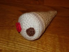 Free Crochet Ice Cream Cone Pattern - Gratis mönster på virkad glasstrut glass strut TopHat