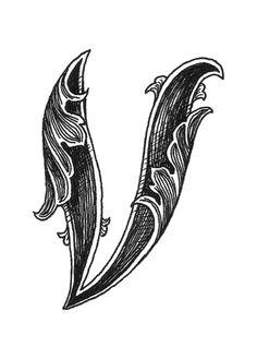 Leaf Script V Art Print