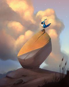 Storm Bird, julian del Rey on ArtStation at https://www.artstation.com/artwork/storm-bird