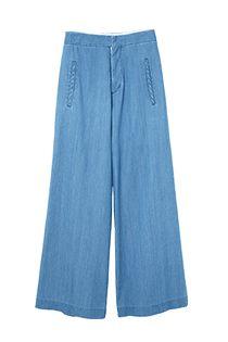 【予約】Light denim Wide Pants