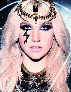 Fantasy Project (Kesha Inspired Look): looking at symbol on the face, eyeliner, eye makeup, and contour
