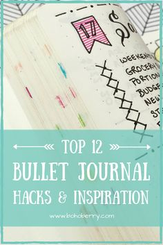 Top 12 Bullet Journal Hacks