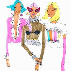really cool drawings Fashion Illustration Sketches, Art Sketches, Art Drawings, Illustration Art, Illustrations, Mode Portfolio Layout, Collage Art, Collages, Art Design