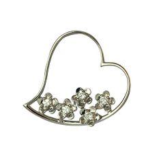 Zilveren hanger hartje 00004
