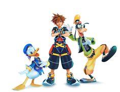 Donald, Sora & Goofy as they will appear in Kingdom Hearts III.