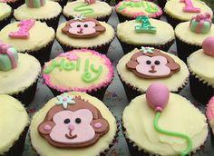 Girly Cheeky Monkey Cupcakes