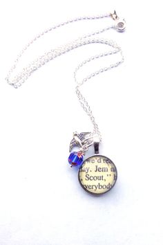 To Kill A Mockingbird Book Necklace By Hendersweet