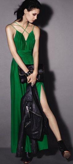 Oscar de la Renta Lilac, Yellow, Green, Red, Pink Dress