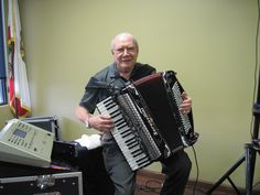 """Accordionist Frank Lenz of Upland, CA has been playing polka and European music in California for over 50 years. During the 60's he lived in Northern California, but has now been  in Southern California for over 40 years. He plays every weekend in the Bier Stube at the German-American """"Phoenix Club"""" in Anaheim, CA with his very able  vocalist Renate at his side singing all the old German favorites. Photo: Don Haderle"""