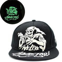 Dark glowing Snapback cap