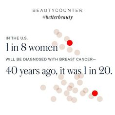We are dedicated to prevention. Help us in our mission to stop breast cancer before it starts. Learn more at beautycounter.com/know-everything. #betterbeauty