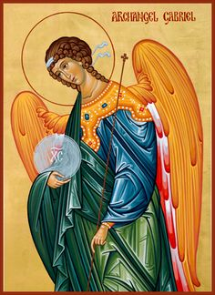 Archangel Gabriel God Is, Paint Icon, Byzantine Art, City Of Angels, Guardian Angels, Orthodox Icons, Angel Art, Sacred Art, Christianity