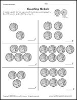 Math and Money Worksheets - Counting Dimes | Math Math worksheets and Money worksheets