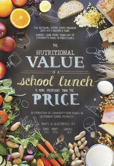 Healthy School Lunches Poster by Kimberly Low, via Behance