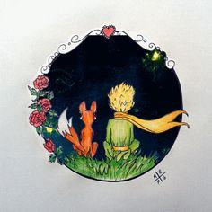 The Little Prince •• [Desenhista de Saturno – Miray Tunali – Redes Sociales Le Petit Prince Film, Prince Drawing, Prince Tattoos, The Little Prince, Oeuvre D'art, Cute Wallpapers, Van Gogh, Painting & Drawing, Watercolor Art