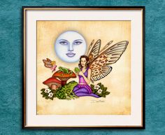 Dan Morris, Moon Symbols, Fairy Art, Magical Creatures, Faeries, Art Boards, Fantasy Art, Art Prints, Pixies