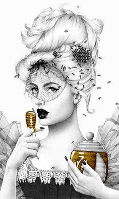 """Queen Bee"" - Art Print by Morgan Davidson"