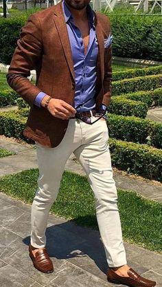 Casual classy look Blazer Outfits Men, Blazer Fashion, Casual Outfits, Men Casual, Fashion Outfits, Fashion Fashion, Look Man, Cooler Look, Herren Outfit