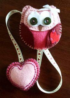 Cute Owl Bookmark... Felt Owl Bookmark...