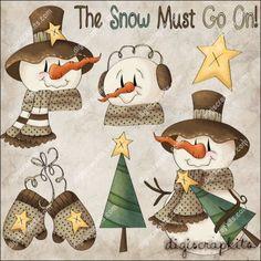 Snow Must Go On 1 Clip Art Set