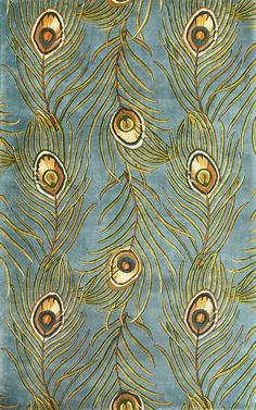 peacock area rugs | KAS Catalina 0739 Blue Peacock Feathers Area Rugs at Bold Rugs | Free ...