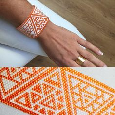 [ Bead Loom ] Geometric Bracelet