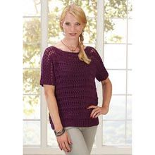 Loose T-Tunic  Knit Pattern- Available from WillowYarns.com -Tremendously versatile, this trendy tunic designed by Lorna Miser in Willow Daily Worsted yarn can be worn day or night, dressy or casual. Easy Knit