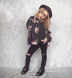 Top, jacket and hat by @littleedgethrea   Shoes by &joyfolie