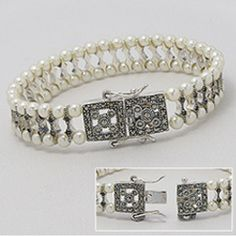 Beaded Bracelets, Diamond, Vintage, Jewelry, Fashion, Bead, Moda, Jewlery, Jewerly