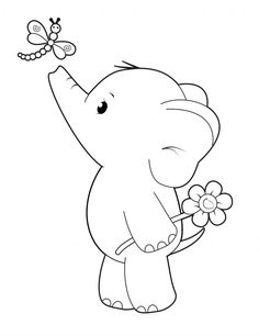 'Ella with Dragonfly' Cute Elephant – Simply Cards & Papercraft magazine - Free Digi Stamp! 'Ella with Dragonfly' Cute Elephant - Simply Cards & Papercraft. Cute Coloring Pages, Coloring Books, Fairy Coloring, Digi Stamps Free, Elephant Coloring Page, Clay Stamps, Printable Animals, Fabric Stamping, Whimsy Stamps