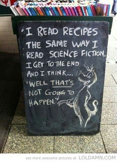 Recipes and sci-fi