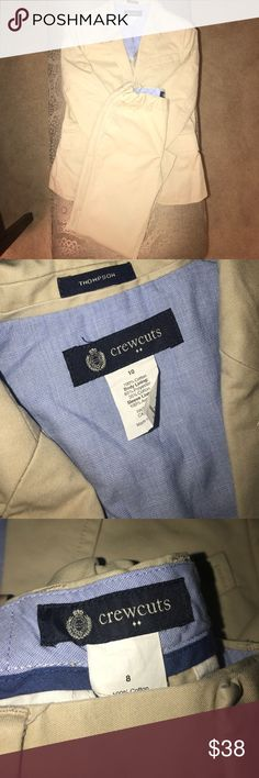 Boys J Crew Suit Like Brand new. Worn once. Jacket is SIZE 10. Pants is SIZE 8. J. Crew Matching Sets