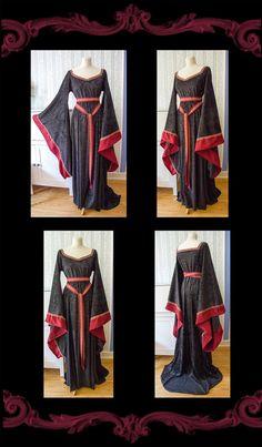 auch dieser Shop nimmt an der Aktion 'EarlyXMas teil!' - mittelalterliches FantasyKleid Branwen von Gewandfantasien auf Etsy, €105.00