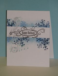 I like the blank area created by masking and inking and stamping. very pretty.