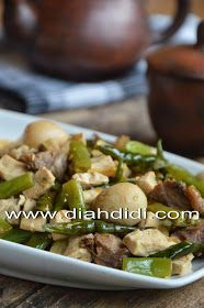Diah Didi S Kitchen Oseng Buncis Tahu Telur Puyuh Tetelan Cabe Hijau Resep Masakan Resep Makanan Masakan
