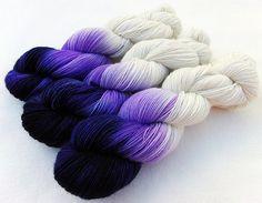handgefärbte Sockenwolle  75  Wolle, 25 Polyamid 100 g   Nr.  22