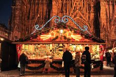 Copyright JF.Badias Christmas in Strasbourg.  In front of the Cathedrale