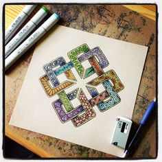 Zentangle Celtic Knotwork | Flickr - Photo Sharing!