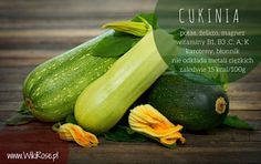 Cukinia jest lekkostrawnym warzywem, cenionym we wszystkich dietach odchudzających. Cukinia to także bogactwo witamin i minerałów, cennych dla Twojego zdrowia. W poście znajdziesz również dwa zdrowe przepisy z cukinią.