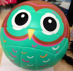 It doesn't get much cuter than this mini owl volleyball by @Molten USA!  His name is Vinny.
