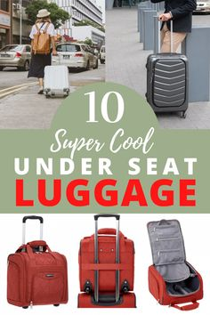 Trying to fly for less? Wheeled carry-on under seat bags are a fantastic option to bring your essentials on the plane. Check out these 10 best under seat carry-on luggage you can take on any flight! Packing List For Travel, Packing Tips, Travel Tips, Travel Hacks, Carry On Luggage, Carry On Bag, Luggage Bags, Underseat Carry On, Travel Toiletries