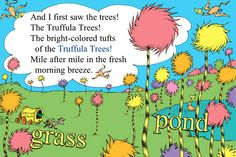 The Lorax - Dr. Seuss Truffula Trees