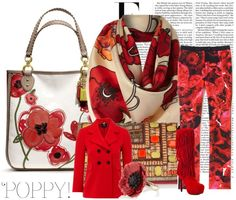 """Poppy Red"" by ambersweetdtnt on #Polyvore"