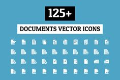 125+ Documents Vector Icons by Creative Stall on Creative Market