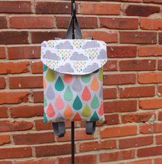 Spring Showers toddler backpack toddler by WeLiveOutLoudDesigns, $35.00
